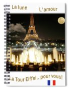 Eiffel Tower At Night Spiral Notebook