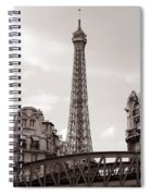 Eiffel Tower Black And White 3 Spiral Notebook