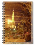 Eiffel Tower By Bus Tour Greeting Card Poster Spiral Notebook