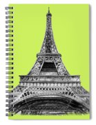 Eiffel Tower Design Spiral Notebook