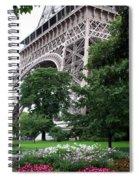 Eiffel Tower Garden Spiral Notebook