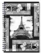 Eiffel Tower In Black And White Design I Spiral Notebook