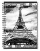 Eiffel Tower In Black And White Design II Spiral Notebook