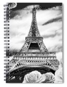 Eiffel Tower In Black And White Design IIi Spiral Notebook
