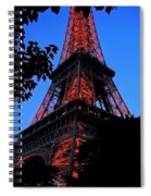 Eiffel Tower Spiral Notebook