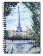Eiffel Tower Paris France 2001   Spiral Notebook