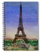 Eiffel Tower Paris France Spiral Notebook