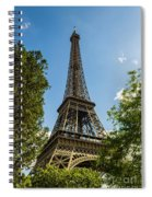 Eiffel Tower Through Trees Spiral Notebook