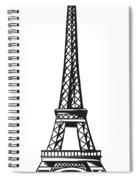 Eiffel Tower Up Spiral Notebook