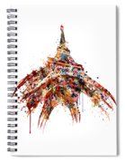 Eiffel Tower Watercolor Spiral Notebook
