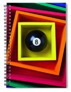 Eight Ball In Box Spiral Notebook