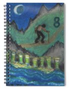 Eight Of Cups Illustrated Spiral Notebook