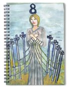 Eight Of Swords Illustrated Spiral Notebook
