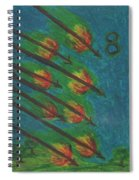 Eight Of Wands Illustrated Spiral Notebook