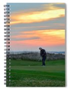 Eighteenth Green At Sunset Spiral Notebook
