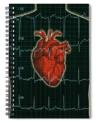 Ekg And Heart Over Torso Spiral Notebook