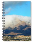 El Paso Franklin Mountains And Low Clouds Spiral Notebook