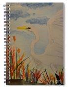 Elana - Egret Spiral Notebook