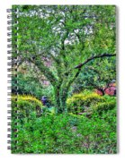 Elderly Man At St. Luke's Garden Spiral Notebook