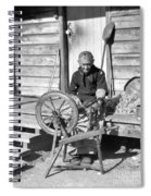 Elderly Woman Spinning Wool, C.1920s Spiral Notebook