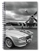 Eleanor Mustang With P51 Black And White Spiral Notebook