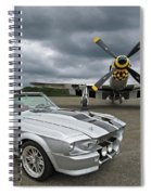 Eleanor Mustang With P51 Spiral Notebook