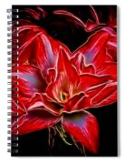 Electric Amaryillis Spiral Notebook