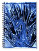 Electric Blues Peacock Spiral Notebook