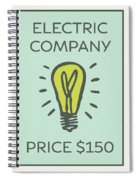 Electric Company Vintage Monopoly Board Game Theme Card Spiral Notebook
