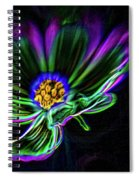 Electric Daisy Spiral Notebook