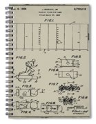 Electric Football Patent 1955 Aged Gray Spiral Notebook