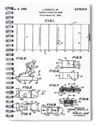Electric Football Patent 1955 Spiral Notebook