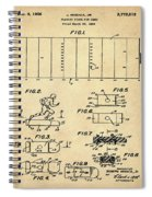 Electric Football Patent 1955 Sepia Spiral Notebook