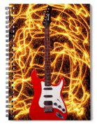 Electric Guitar With Sparks Spiral Notebook