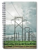 Electric Lines And Weather Spiral Notebook