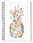 Electric Pineapple - Art By Linda Woods Spiral Notebook