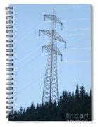 Electric Pylon On Blue Sky Spiral Notebook