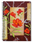 Electric Red Poppies Spiral Notebook