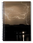 Electric Sepia Skies  Spiral Notebook