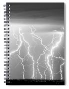 Electric Skies In Black And White Spiral Notebook