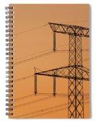 Electricity Pylon At Sunset  Spiral Notebook