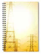 Electricity Towers Spiral Notebook