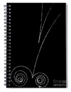 Electrons And Positrons, Bubble Chamber Spiral Notebook