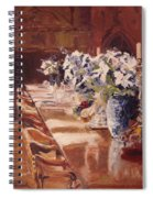 Elegant Dining At Hearst Castle Spiral Notebook