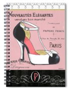 Elegant French Shoes 1 Spiral Notebook