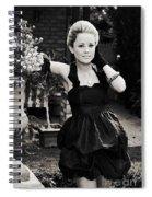 Elegant Gardening Lady Spiral Notebook