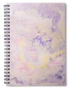 Elegant Hand Made Ink Design In Purple And Yellow Spiral Notebook