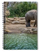 Elephant And Waterfall Spiral Notebook