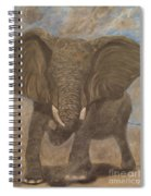 Elephant Charging Spiral Notebook