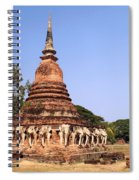 Elephant Chedi Historical Place Spiral Notebook